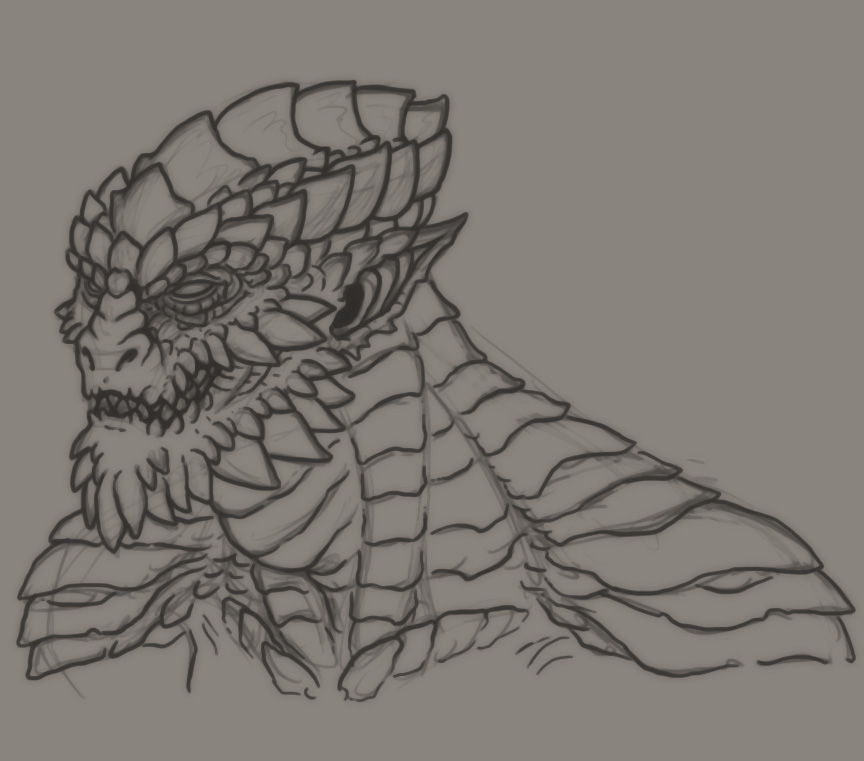 Devil Face Line Drawing : How to draw thorny devil
